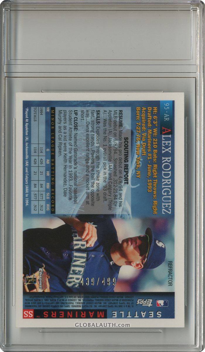 2005-bowman-chrome-a-rod-throwback-refractor-95-ar-alex-rodriguez-1995-back-image.jpg, #1