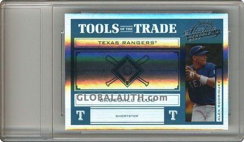 2004 Absolute Memorabilia Tools of the Trade Green Spectrum TT-8: Alex Rodriguez