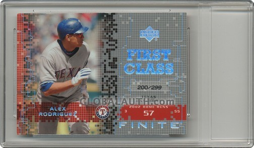 2003 Upper Deck Finite Gold #182: Alex Rodriguez