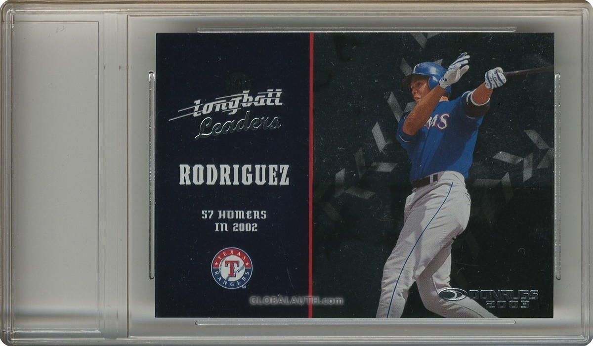 2003 Donruss Longball Leaders LL-1: Alex Rodriguez