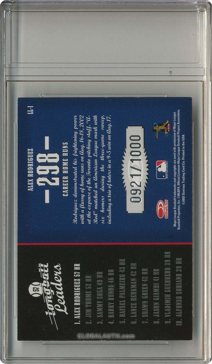 2003-donruss-longball-leaders-ll-1-alex-rodriguez-back-image.jpg, #1