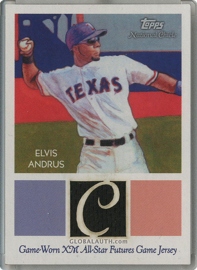 2010 Topps National Chicle Relics NCR-EA: Elvis Andrus — National Chicle Back