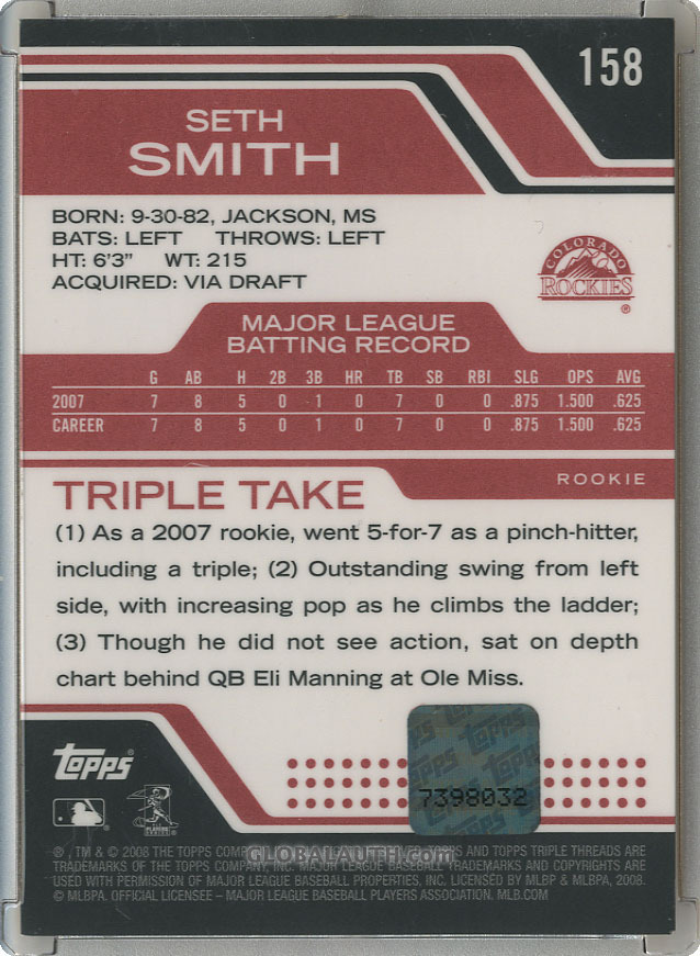 2008-topps-tripel-threads-158-seth-smith-back-image.jpg, #1