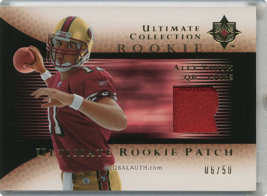 2005-ultimate-collection-rookie-jersey-patch-rjp-as-alex-smith-qb-front-image.jpg, #0