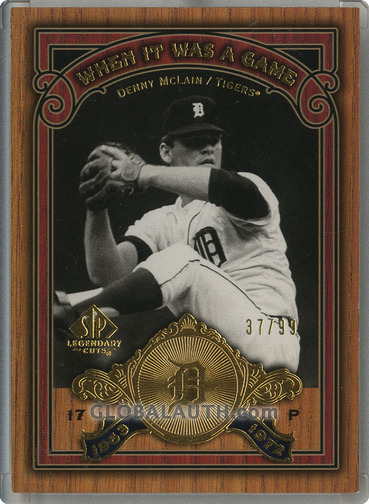 2006 SP Legendary Cuts When It Was A Game Gold WS-DY: Denny Mclain