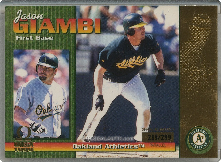 1999 Pacific Omega Gold #168: Jason Giambi
