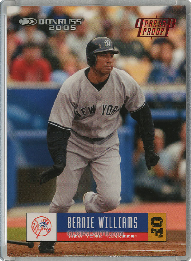 2005 Donruss Press Proof Red #266: Bernie Williams
