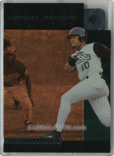 1997 SP Marquee Matchups MM16: Gary Sheffield