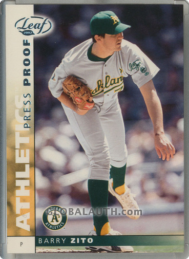 2002 Leaf Press Proofs Platinum #92: Barry Zito