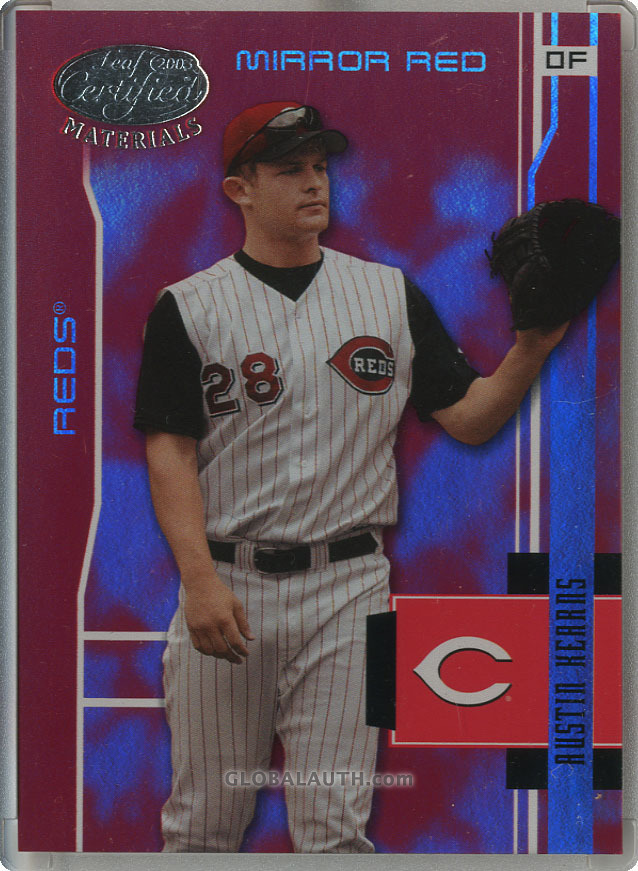 2003 Leaf Certified Materials Mirror Red #50: Austin Kearns