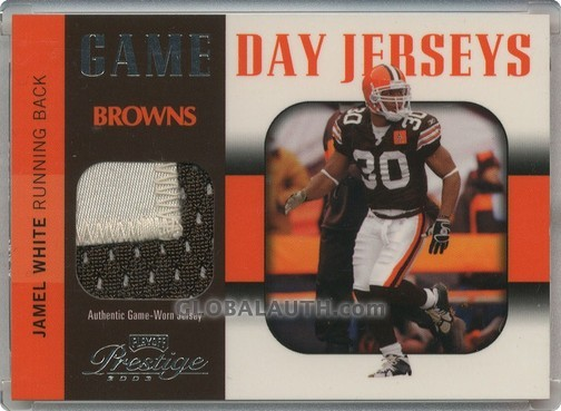 2003 Playoff Prestige Game Day Jerseys GDJ-30: Jamel White