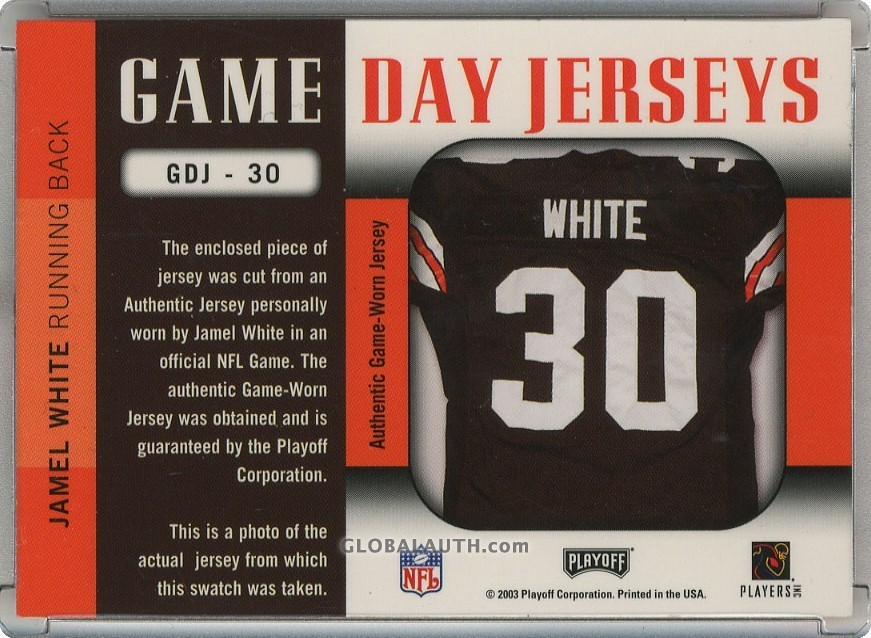 2003-playoff-prestige-game-day-jerseys-gdj-30-jamel-white-back-image.jpg, #1