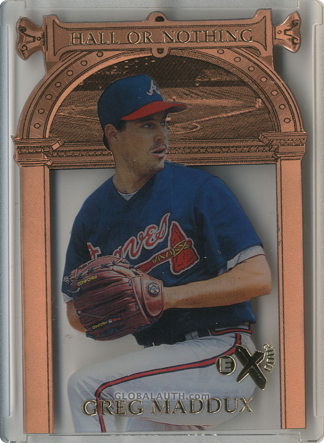 1997 E-X2000 Hall or Nothing #12: Greg Maddux