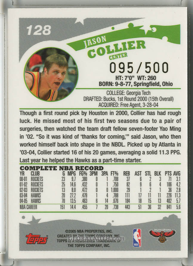 2005-06-topps-black-128-jason-collier-back-image.jpg, #1